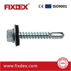 Hex head self-drilling screw with EPDM washer 14#*3