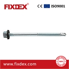 Hex head self-drilling screw with EPDM washer 14#*6
